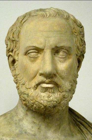 Ο Θουκυδίδης (περίπου 460-περίπου398 π.Χ.) ήταν αρχαίος Έλληνας ιστορικός, γνωστός για τη συγγραφή της Ιστορίας του Πελοποννησιακού Πολέμου.