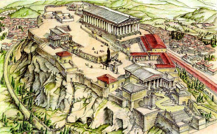 Η αγορά της αρχαίας Αθήνας - αναπαράσταση