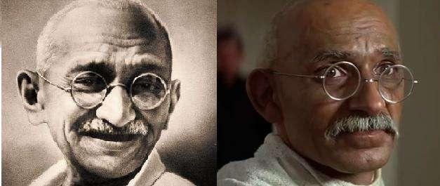 Ο Mohandas Karamchand Gandhi (1869-1948) και ο Ben Kingsley στην ταινία του 1982.