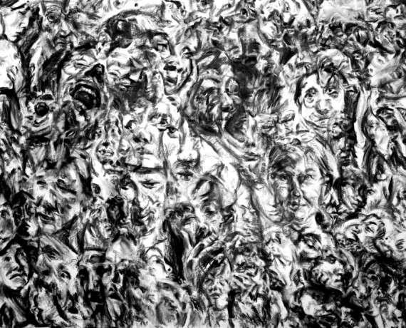 """Αλαβέρας Χρήστος, λεπτομέρεια από το έργο """"Προσωποδράματα"""", 2009"""