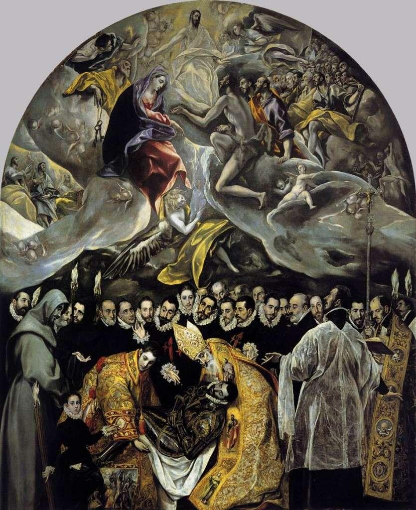 Ο Δομήνικος Θεοτοκόπουλος (1541 – 7 Απριλίου 1614), El Greco, «Η ταφή του κόμητος Οργκάθ»