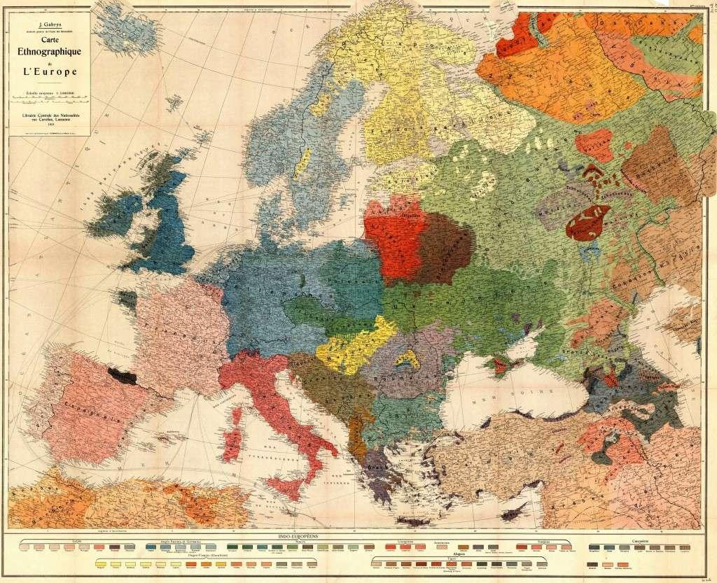 Χάρτης της Ευρώπης (1918) Map of Europe (1918)