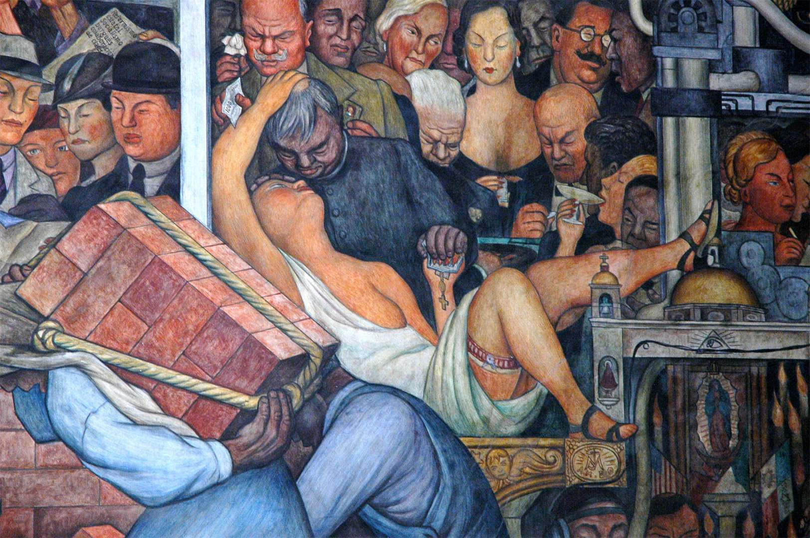 "Diego Rivera, λεπτομέρεια από το έργο ""History of Mexico"", 1931"