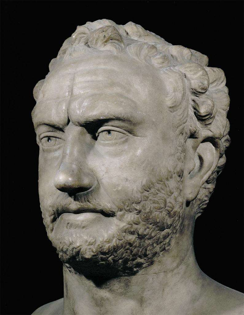Ο Έλλην ιστορικός Θουκυδίδης. Bust of Thucydides. 3rd c. BCE: Louvre Museum. Paris, France. ArtStor: Erich Lessing Culture and Fine Arts Archive