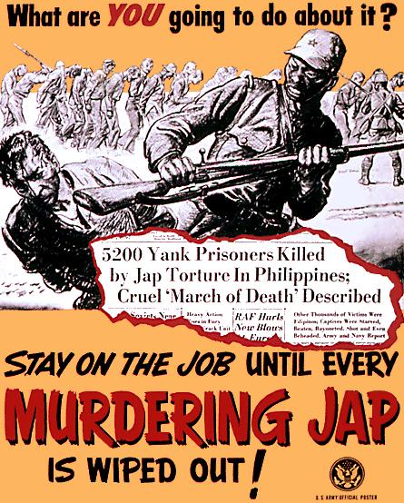 Εσύ τι θα κάνεις γι' αυτό; Μείνε στη δουλειά σου μέχρι κάθε δολοφονικός Γιαπωνέζος να εξοντωθεί!
