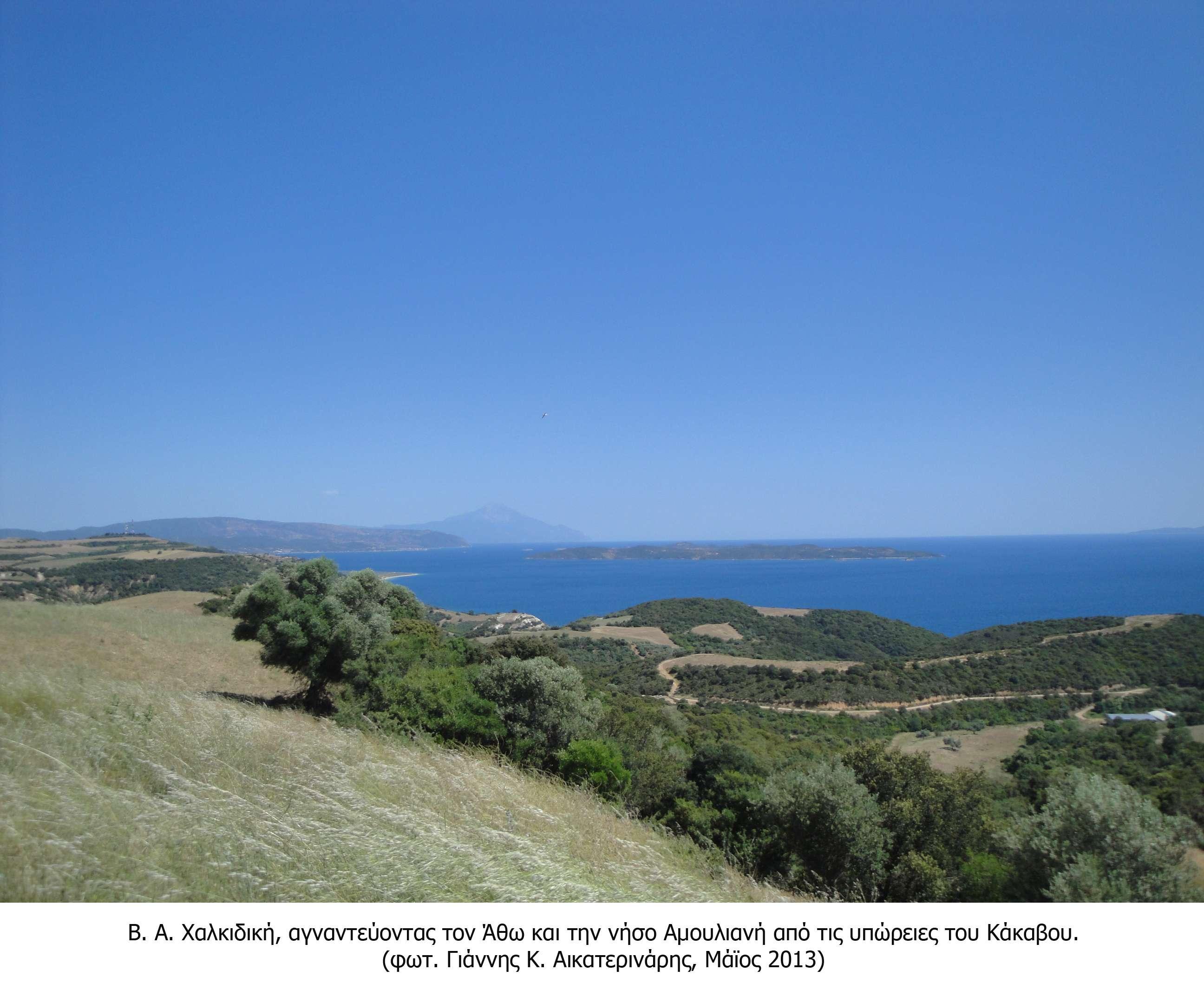 ΒΑ Χαλκιδική, Κάκαβος, Άθως και νήσος Αμουλιανή