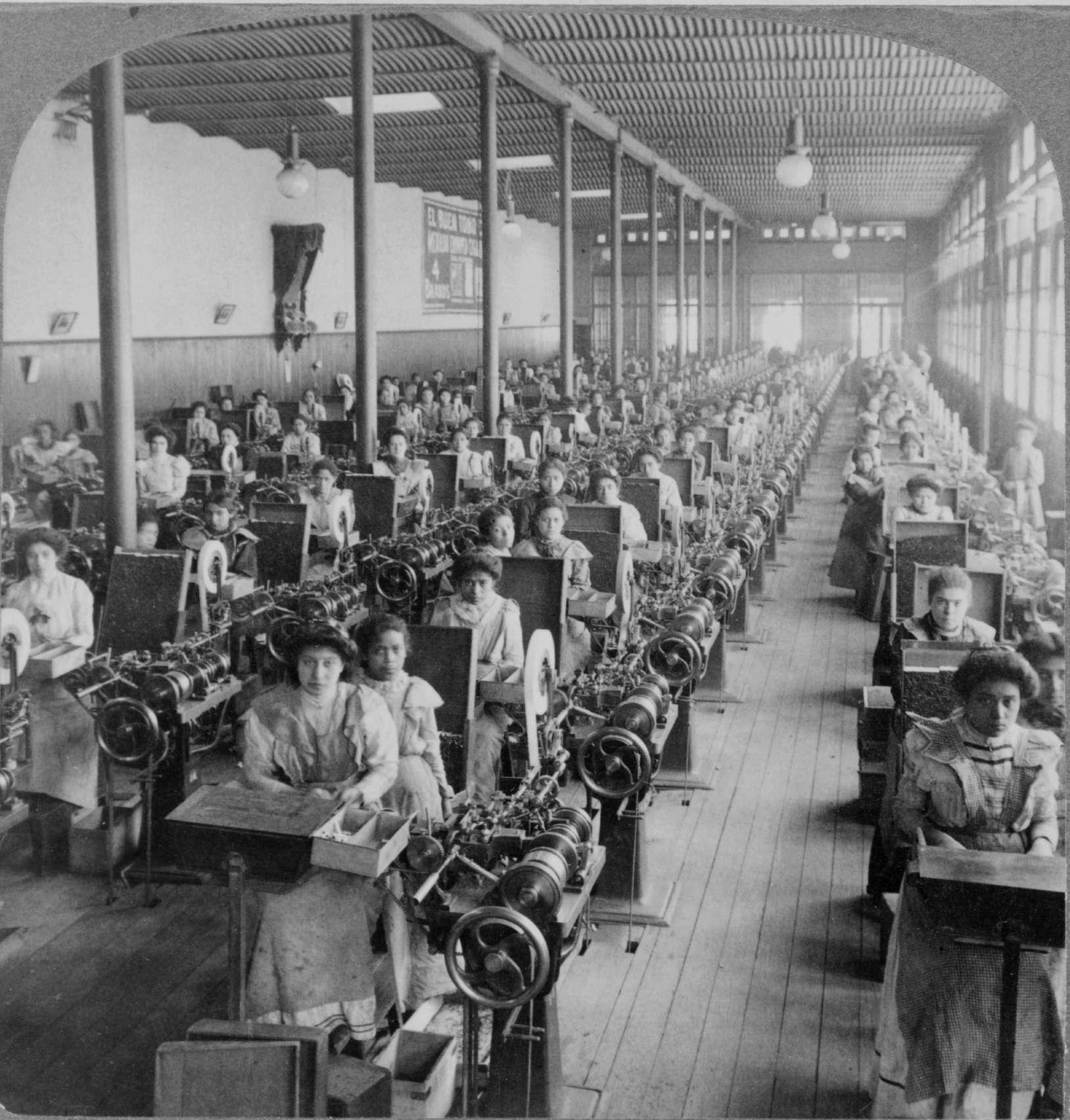 Εργάτριες σε εργοστάσιο σιγαρέττων, 19ος αιώνας