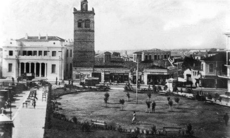 Η πλατεία της Κοζάνης, πιθανόν στις αρχές του 20ου αιώνα