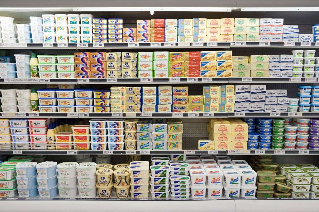 Butter in supermarket