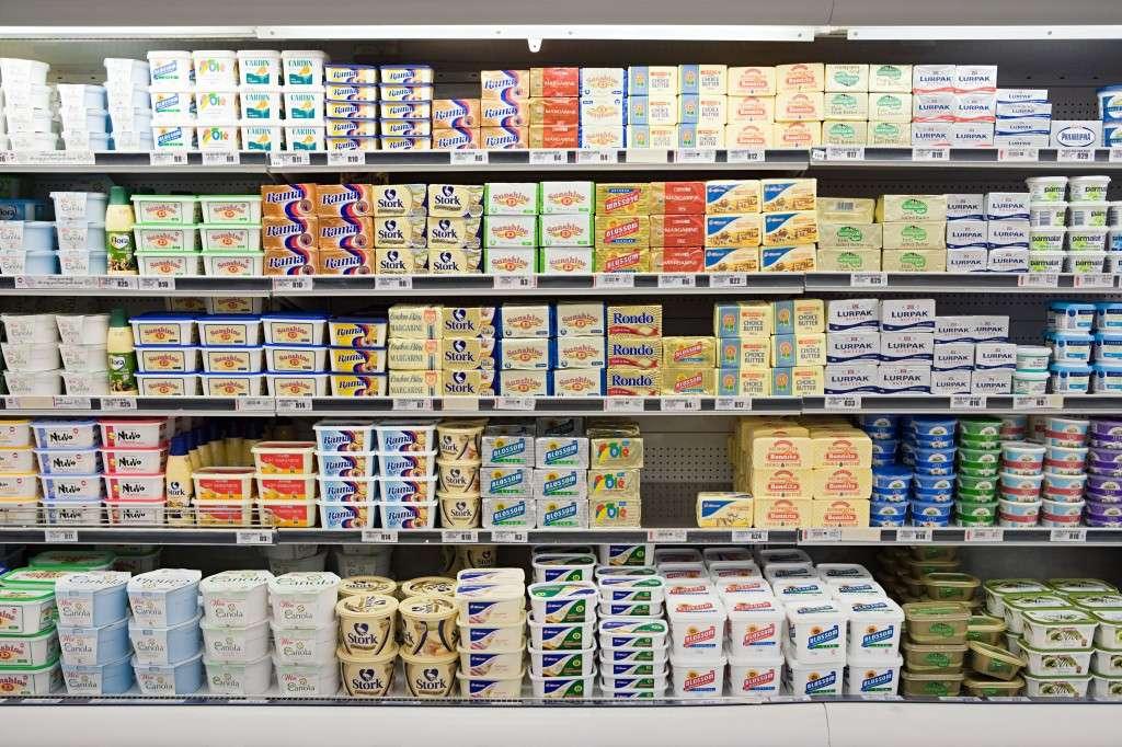Butter in supermarket
