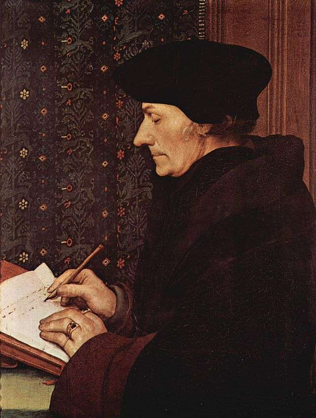 O Desiderius Erasmus (1466-1536) σεπορτρέτοτου 1523 απότον Hans Holbein the Younger