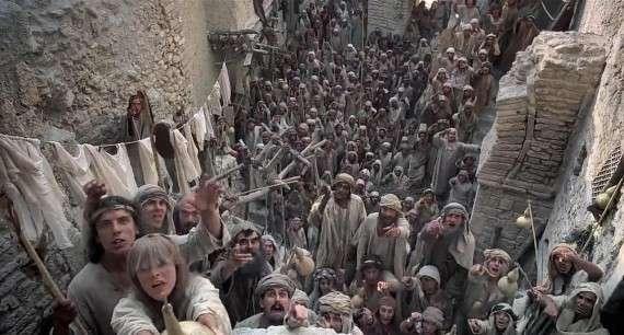 Η ταινία γυρίστηκε στην Τυνησία, χρησιμοποιώντας πλατό της ταινίας «Η Ιησούς Από Τη Ναζαρέτ» του Φράνκο Τζεφιρέλι.