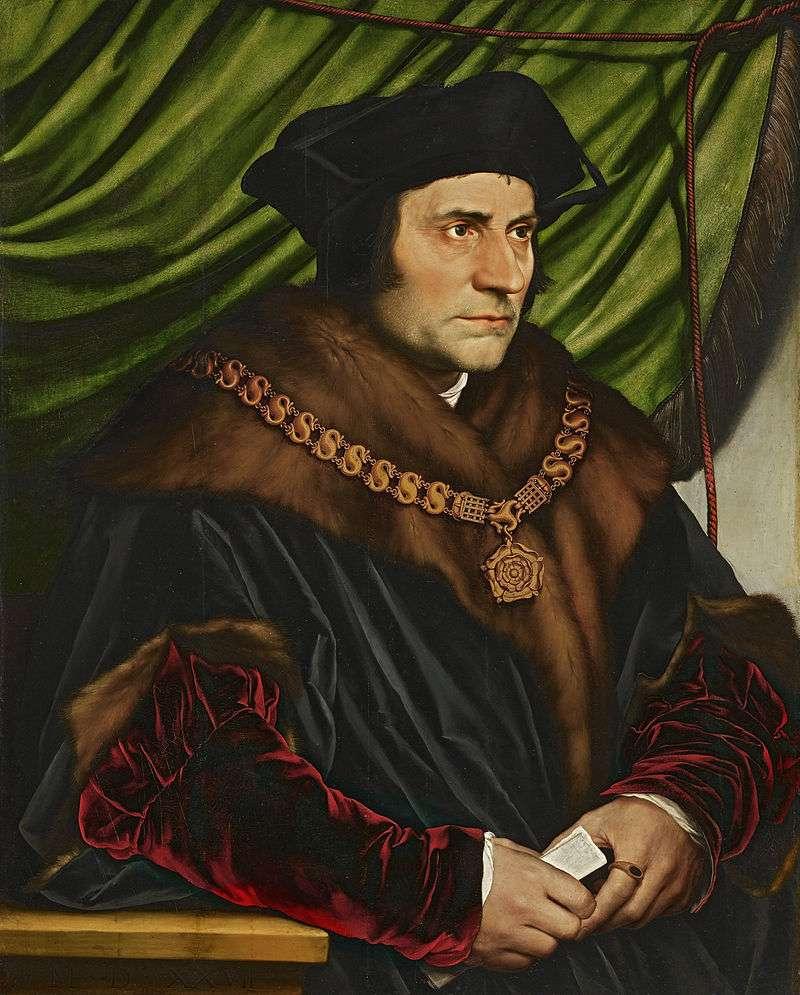 Thomas More (1478-1535), πορτρέτο από τον Hans Holbein, τον Νεότερο, 1527