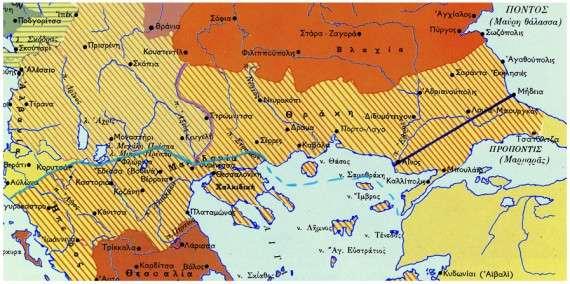 Τα εδαφικά κέρδη των συμμαχικών κρατών με την λήξη του Α' Βαλκανικού πολέμου. Στον χάρτη φαίνεται καθαρά η συμβολή του καπετάν Γιαγλή.