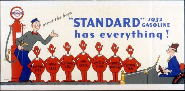 This 1932 Standard Oil Company (New Jersey) advertisement is among those preserved by the Dr. Seuss Collection of the Mandeville Special Collections Library at the University of California, San Diego.