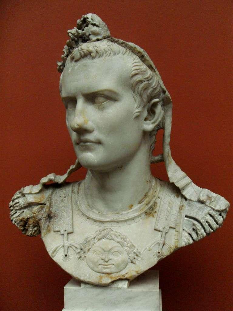 Bust of Caligula at the Ny Carlsberg Glyptotek museum in Copenhagen