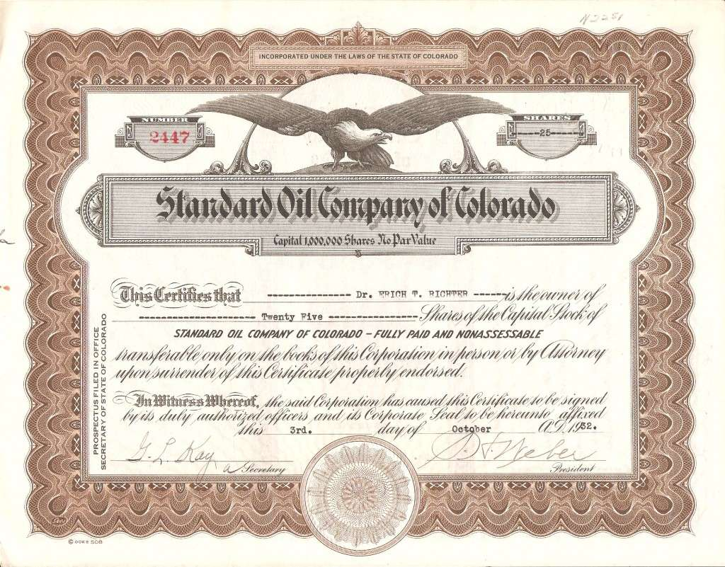 Standard Oil Company of Colorado (1930-1932)