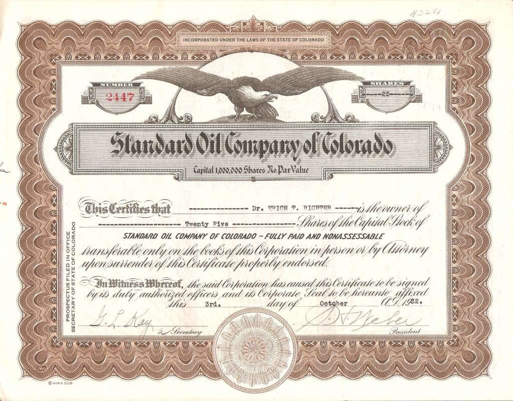 Standard Oil Company of Colorado (1930-1932)