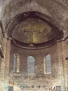 Αγία Ειρήνη στην Πόλη. Δείγμα διακόσμησης των εκκλησιών την περίοδο της εικονομαχίας
