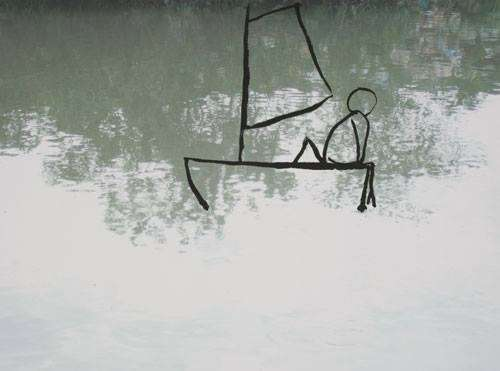 Ruud Matthes ink paintings on digital prints, 2007