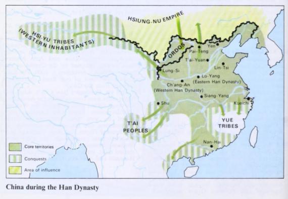 Η άλλη μεγάλη αυτοκρατορία της εποχής, η Κίνα τη δυναστείας των Χαν