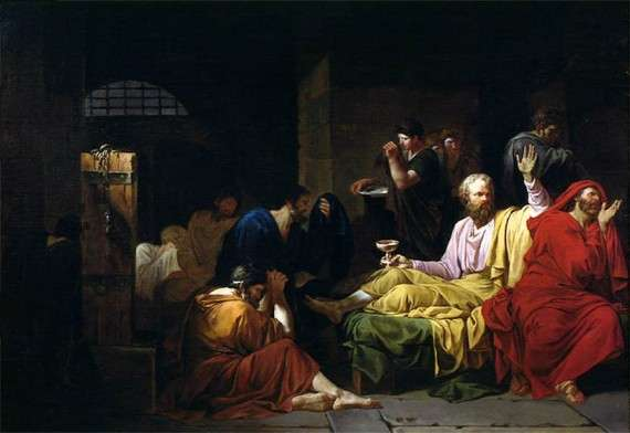 Jean-François Pierre Peyron - The Death of Socrates (1788)