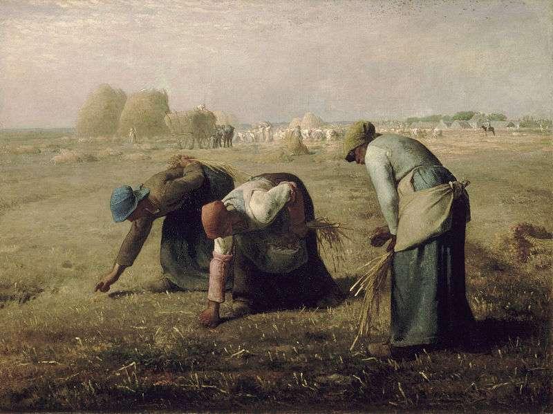 Fr. Millet, Οι σταχομαζώχτρες. 1857. Musée d' Orsay. Παρίσι.