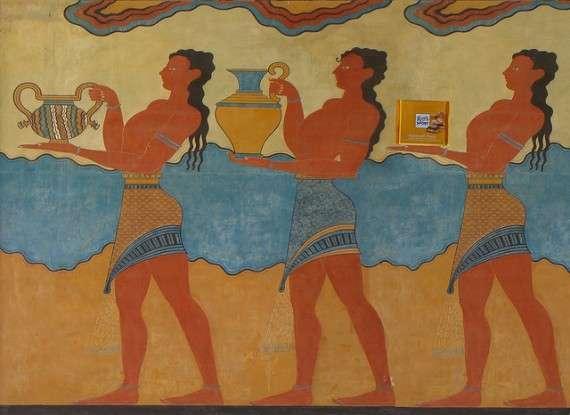 Τοιχογραφία στο ανάκτορο της Κνωσσού