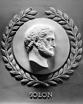 Bas-relief of Solon from the chamber of the U.S. House of Representatives.