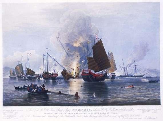 Η καταστροφή του κινεζικού στόλου στον κόλπο της Ασσόν στα 1841
