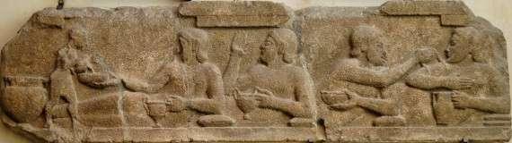Σκηνή από επίσημο γεύμα, από Ναό της Αθηνάς στην Άσσο της Μικράς Ασίας (6ος αιώνας π.Χ.)
