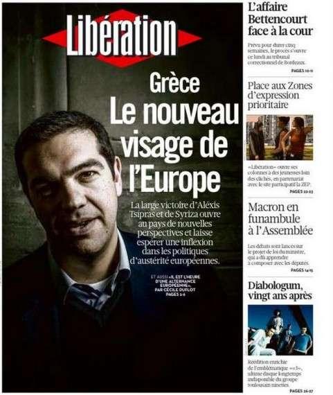 Πρωτοσέλιδο της Le Monde με τον πρωθυπουργό Αλέξη Τσίπρα