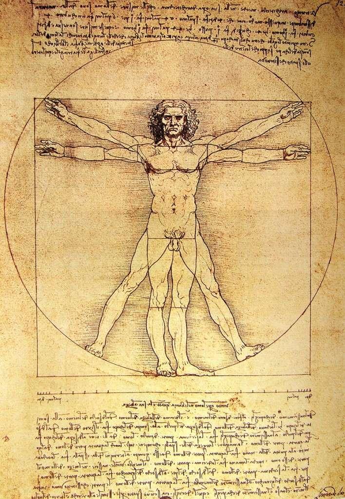 Λεονάρντο ντα Βίντσι,. Ο Άνθρωπος του Βιτρούβιου (1490)