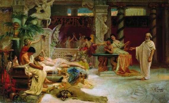 Henryk Siemiradzki – Ο Σωκράτης βρίσκει τον Αλκιβιάδη στην παρέα εταίρων
