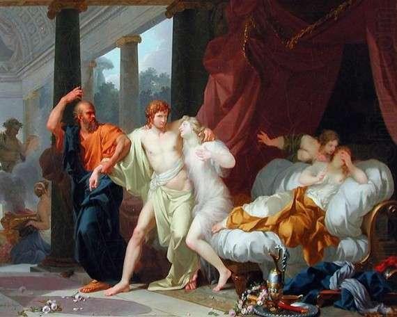 Jean-Baptiste Regnault – Ο Σωκράτης αποσπά τον Αλκιβιάδη από την αγκαλιά του αισθησιασμού (1791)