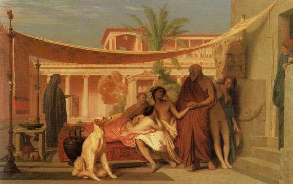 Jean-Leon Gerome – Ο Σωκράτης αναζητά τον Αλκιβιάδη στο σπίτι της Ασπασίας (1861)