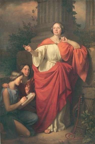 Josef Simmler - Diotima (1855)