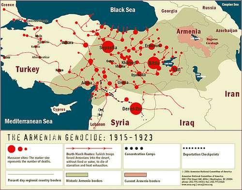 Χάρτης του ιστορικού χώρου της Αρμενίας