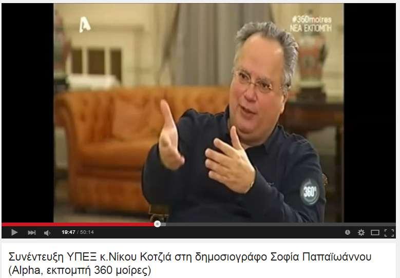 Η συνέντευξη του Νίκου Κοτζιά στον Alpha (βίντεο)