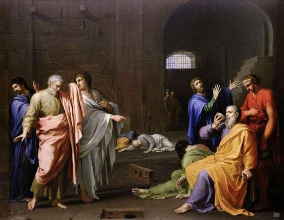 Charles Alphonse Du Fresnoy - Death of Socrates (1650)