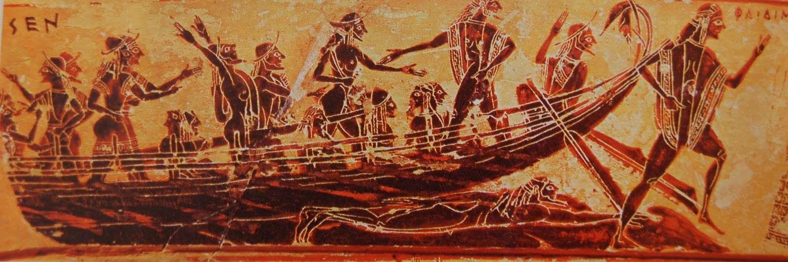 Ετρούσκοι σε πλοία. La marineria etrusca – Cose di Mare.