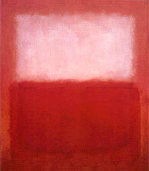 """Mark Rothko, """"White over red"""" (1957)"""