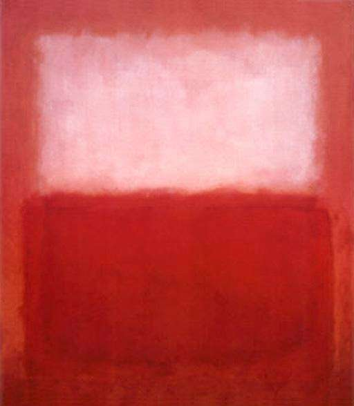"Mark Rothko, ""White over red"" (1957)"