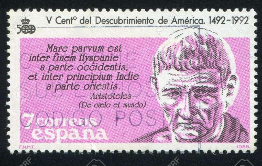 Ο Αριστοτέλης, ισπανικό γραμματόσημο