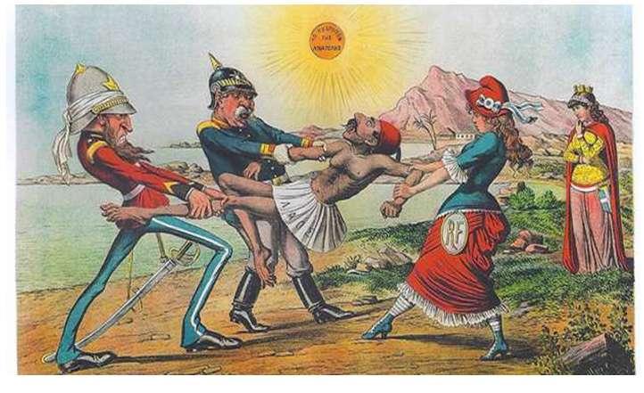 Οι ελληνο-γερμανικές σχέσεις στις γελοιογραφίες του 19ου αιώνα