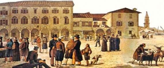 Οι κάτοικοι των Επτανήσων χωρίζονται γενικά σε τρεις τάξεις: τους ευγενείς (nobili), στους αστούς (civili) και το λαό (poporali). Μόνο οι ευγενείς ήταν γραμμένοι στη Χρυσή Βίβλο (libro d'oro) και είχαν πολιτικά δικαιώματα.