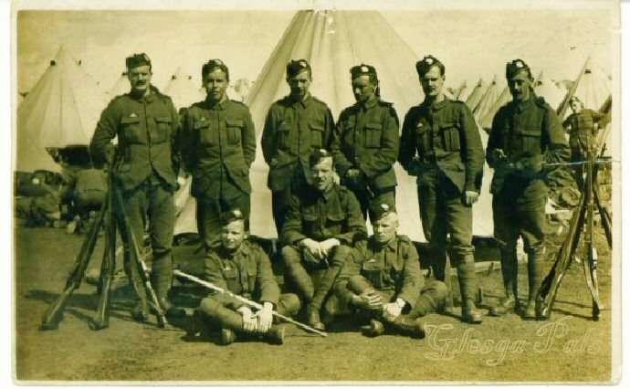 Σκωτσέζοι στρατιώτες στην Καλλίπολη.