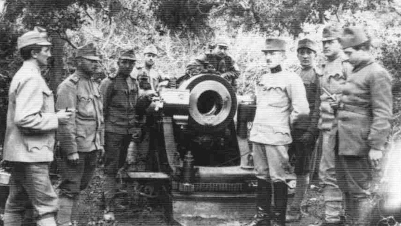 Αυστροούγγροι χειριστές όλμου στην Καλλίπολη