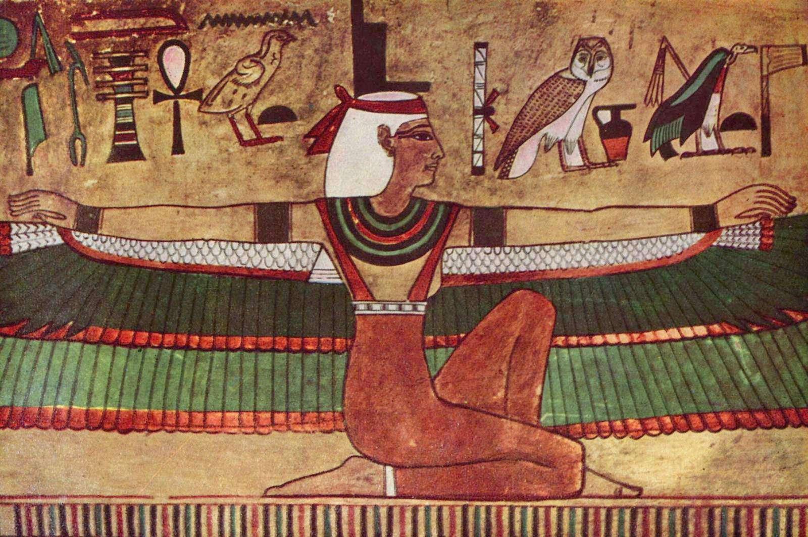 Η θεά Ίσις, τοιχογραφία