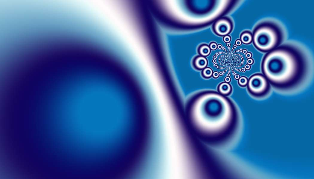 Blue and white and Blue Fractal